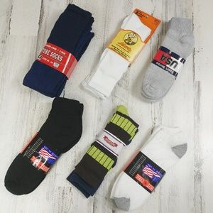 🌿17 Pair Men's Socks Mixed Ankle No Show Tube NEW